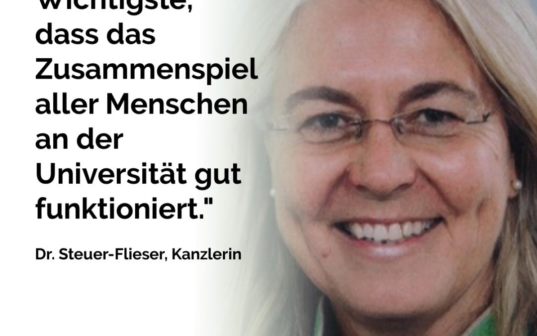 Dr. Steuer-Flieser, Kanzlerin
