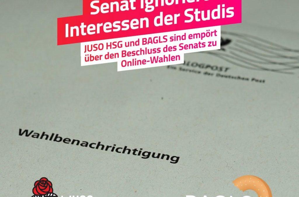 Pressemitteilung: Studierende entsetzt über Entscheidung für Online-Wahlen